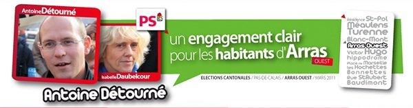 Antoine Détourné, votre candidat pour Arras Ouest  headerantoinedetourne