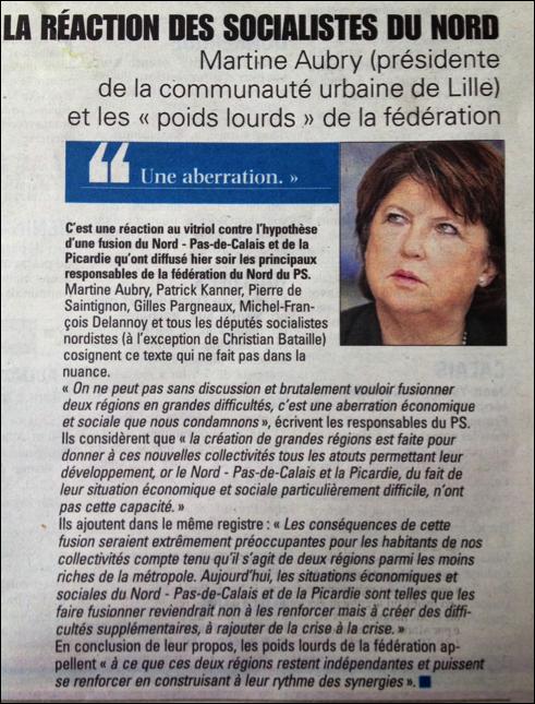 Article Voix du Nord 16/07/14