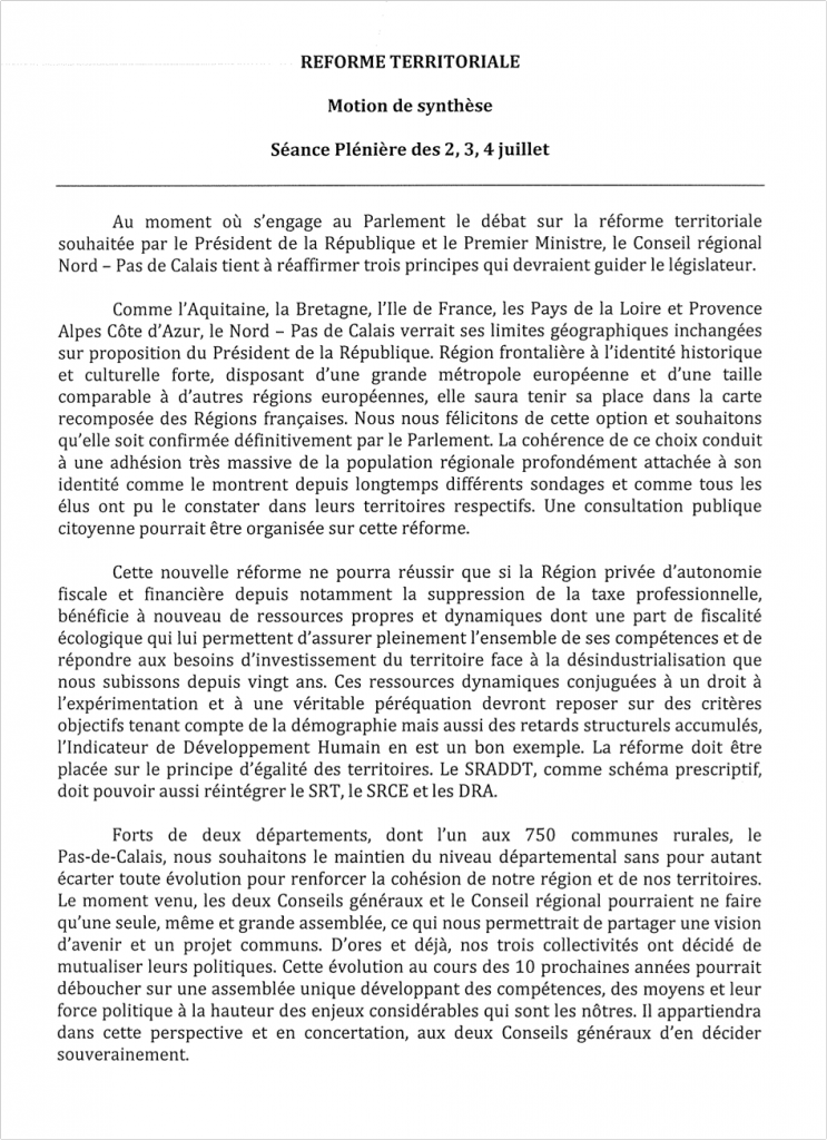 La réforme territoriale « vidée » au Sénat par l'opposition dans La politique nationale motion-743x1024