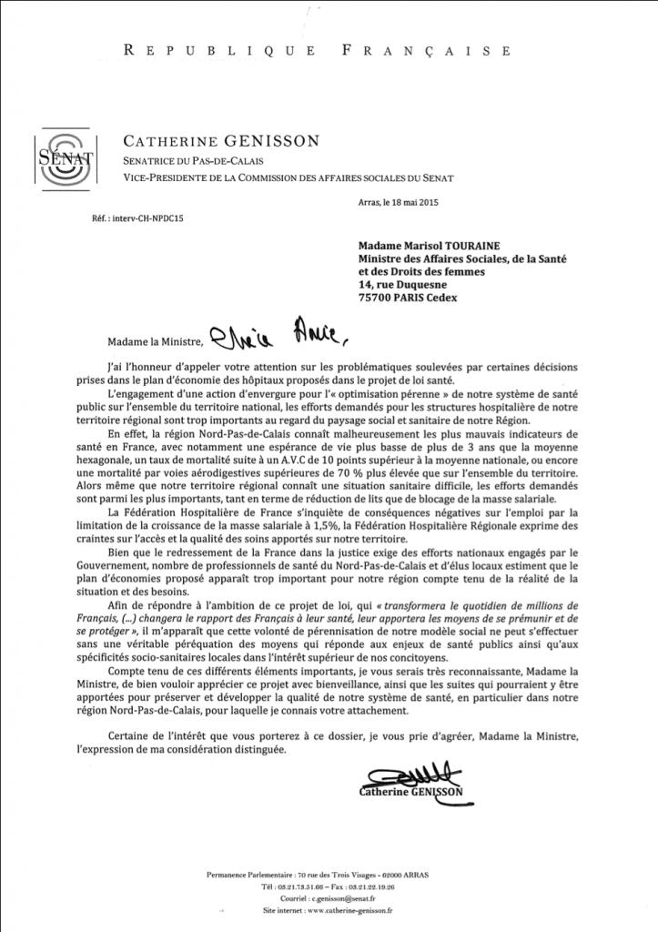 18mai15 - courrier a M.Touraine