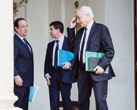 Hollande-Valls-Rebsamen